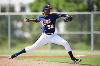 Minnesota Twins pitcher Eddie Del Rosario (52) during an Instructional League game against the Boston Red Sox on September 24, 2016 at CenturyLink Sports Complex in Fort Myers, Florida.  (Mike Janes/Four Seam Images)