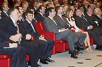 Spain's crown Prince Felipe and Princess Letizia during a ceremony to designate Spain Brand ambassadors. February 12, 2013. (ALTERPHOTOS/Alvaro Hernandez) /NortePhoto