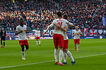 15.02.2020, Red Bull Arena, Leipzig, GER, 1.FBL, RB Leibzig vs SV Werder Bremen<br /> <br /> DFL REGULATIONS PROHIBIT ANY USE OF PHOTOGRAPHS AS IMAGE SEQUENCES AND/OR QUASI-VIDEO.<br /> <br /> im Bild / picture shows<br /> <br /> Jubel 2:0 Patrik Schick (RB Leipzig #21)<br /> Foto © nordphoto / Kokenge