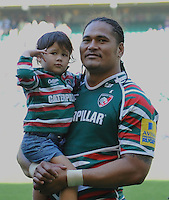 Aviva Premiership Final .Twickenham, England. Alesana Tuilagi of Leicester Tigers last game before going to Japan at the AVIVA Premiership Final between Harlequins and Leicester Tigers at Twickenham Stadium on May 26, 2012 in London, United Kingdom.
