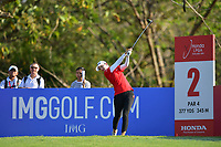 PATTAYA, THAILAND - FEBRUARY 22: Lindy Duncan of USA on the 2nd tee during the second round of the Honda LPGA Thailand 2019 at Siam Country Club Pattaya (Old Course), Pattaya, Thailand on February 22, 2019.<br /> .<br /> .<br /> .<br /> (Photo by: Naratip Golf Srisupab/SEALs Sports Images)<br /> .<br /> Any image use must include a mandatory credit line adjacent to the content which should read: Naratip Golf Srisupab/SEALs Sports Images