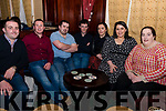 At the Macra na Feirme fundraising dance in The Manor Inn Killorglin on Saturday, seated L-R: Danny Lane, Niall Flahive, Shane Randles, Ciaran Doherty, Mary Ann Flahive, Miriam Angland, Elaine O'Connell