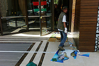 Tripoli, Libya, August 25, 2011.A rebel fighter enters the now 'liberated' Rixos hotel.