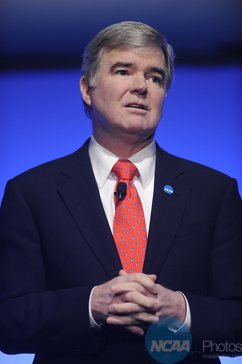 13 JAN 2011: The Opening Business Session at the 2011 NCAA Convention held at the Lila Cockrell Theatre in San Antonio, TX. Stephen Nowland/NCAA Photos.Pictured: Mark Emmert