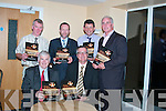 NEW BOOK: Tony Considine (Clare Hurling Manager) and Sean Kelly jointly launched St Pats Club Book Kindling St Patricks Flame in the Ross Golf Club, Killarney, on Saturday night. Pictured in front, Pat Delaney (Club Chairman) and Tony Considine (Clare Senior Hurling Team Manager). Back from left are John OLeary (East Kerry Board), Sean Kelly (Chief Executive of the Institute of Sport), Mike Leahy (East Kerry Board) and Sean Walsh (Chairman Kerry County Board).