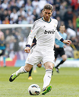 Real Madrid's Sergio Ramos during La Liga match.March 02,2013. (ALTERPHOTOS/Acero) /NortePhoto