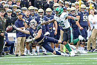 Annapolis, MD - October 26, 2019: Navy Midshipmen wide receiver Ryan Mitchell (87) could not make the catch during the game between Tulane and Navy at  Navy-Marine Corps Memorial Stadium in Annapolis, MD.   (Photo by Elliott Brown/Media Images International)