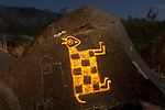Rearing Sheep Petroglyph, Three Rivers Petroglyph Site, New Mexico