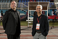 Couva, Trinidad & Tobago - Tuesday Oct. 10, 2017:  Bruce Arena snd Sunil Gulati during a 2018 FIFA World Cup Qualifier between the men's national teams of the United States (USA) and Trinidad & Tobago (TRI) at Ato Boldon Stadium.