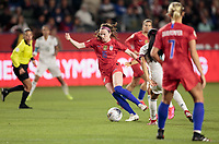 CARSON, CA - FEBRUARY 7: Rose Lavelle #16 of USA dribbles the ball during a game between Mexico and USWNT at Dignity Health Sports Park on February 7, 2020 in Carson, California.