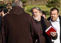 Padre Renzo  partecipa ai funerali  di  Pino Daniele al santuario del divino amore di Roma