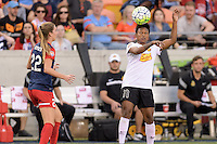 Houston, TX - Sunday Oct. 09, 2016: Alyssa Kleiner, Taylor Smith during the National Women's Soccer League (NWSL) Championship match between the Washington Spirit and the Western New York Flash at BBVA Compass Stadium. The Western New York Flash win 3-2 on penalty kicks after playing to a 2-2 tie.