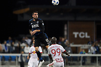 San Jose, CA - Saturday October 06, 2018: Jimmy Ockford during a Major League Soccer (MLS) match between the San Jose Earthquakes and the New York Red Bulls at Avaya Stadium.