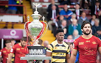 Picture by Allan McKenzie/SWpix.com - 22/04/2018 - Rugby League - Ladbrokes Challenge Cup - York City Knight v Catalans Dragons - Bootham Crescent, York, England - The Ladbrokes Challange Cup Trophy at York's Bootham Crescent.