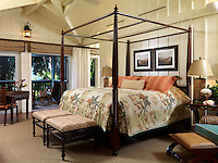Guest room suite with vintage board and batten wall trim detail