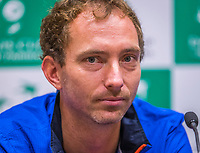 The Hague, The Netherlands, September 12, 2017,  Sportcampus , Davis Cup Netherlands - Chech Republic, Pre Draw press conference, Matwe Middelkoop (NED)<br /> Photo: Tennisimages/Henk Koster