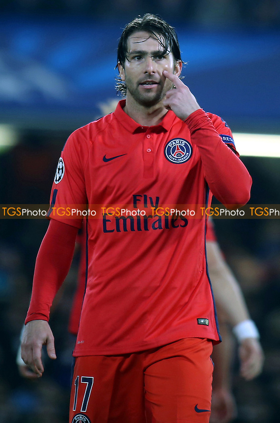 Maxwell of Paris SG - Chelsea vs Paris St Germain - UEFA Champions League Round of 16 2nd Leg Football at Stamford Bridge, London - 11/03/15 - MANDATORY CREDIT: Paul Dennis/TGSPHOTO - Self billing applies where appropriate - contact@tgsphoto.co.uk - NO UNPAID USE