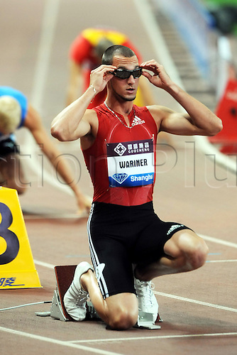 May 23, 2010; Shanghai, CHINA; Jeremy Wariner of the USA after victory in the mens 400m during the IAAF Diamond League Shanghai at Shanghai Stadium.