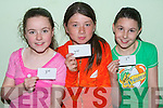 .FIRST, SECOND & THIRD: Winner's of the U12's sprint race at the St Brendan's, Listellick Community Games on Thursday evening at Na Gaeil GAA Club grounds l-r: Emma Donovan, Listellick (3rd), Natoya Coffey, Killeen Woods (2nd) and Jordan Foley, St Brendan's Park, (1st)   Copyright Kerry's Eye 2008