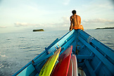 INDONESIA, Mentawai Islands, returning to Kandui Resort after a day of surf
