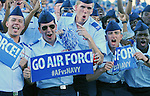 October 1, 2016 - Colorado Springs, Colorado, U.S. -  Air Force Prep School cadets celebrate during the NCAA Football game between the Naval Academy Midshipmen and the Air Force Academy Falcons, Falcon Stadium, U.S. Air Force Academy, Colorado Springs, Colorado.  Air Force defeats Navy 28-14 to remain undefeated.