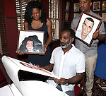 Audra McDonald, Norm Lewis & David Alan Grier.attending the celebration for Norm Lewis receiving a Caricature on Sardi's Hall of Fame in New York City on 5/30/2012