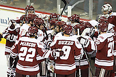 - The Boston College Eagles defeated the visiting University of Massachusetts-Amherst Minutemen 2-1 in the opening game of their 2012 Hockey East quarterfinal matchup on Friday, March 9, 2012, at Kelley Rink at Conte Forum in Chestnut Hill, Massachusetts.