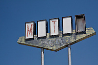 Vintage Motel sign in El Reno Oklahoma on Route 66, the motel is long gone.