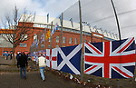 Rangers fans heading to the match