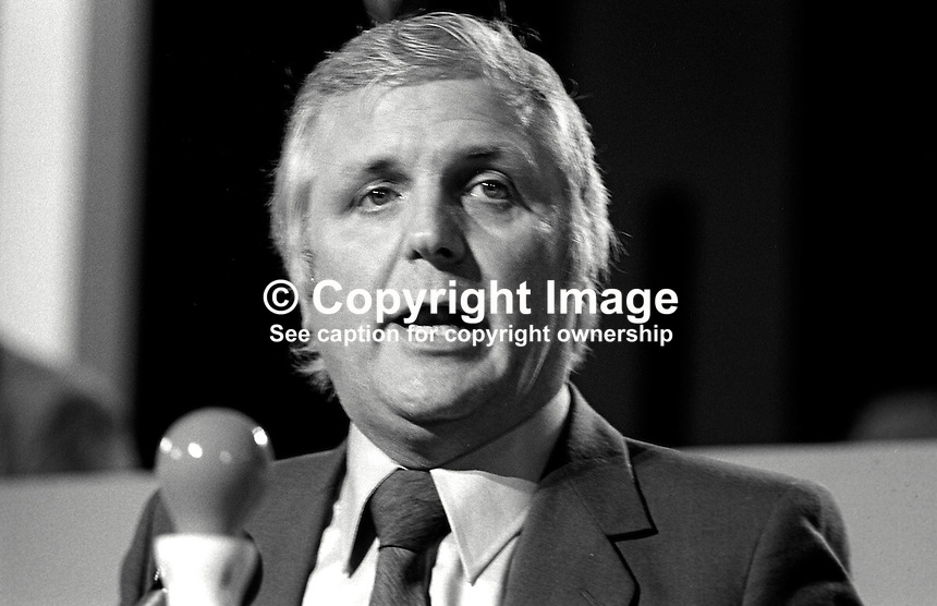 Joe Ashton, MP, Labour Party, UK, speaking at his party's annual conference. 198009000406JA2..Copyright Image from Victor Patterson, 54 Dorchester Park, Belfast, United Kingdom, UK...For my Terms and Conditions of Use go to http://www.victorpatterson.com/Victor_Patterson/Terms_%26_Conditions.html