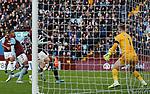Kelechi Iheanacho of Leicester City scores against Aston Villa during the Premier League match at Villa Park, Birmingham. Picture date: 8th December 2019. Picture credit should read: Darren Staples/Sportimage