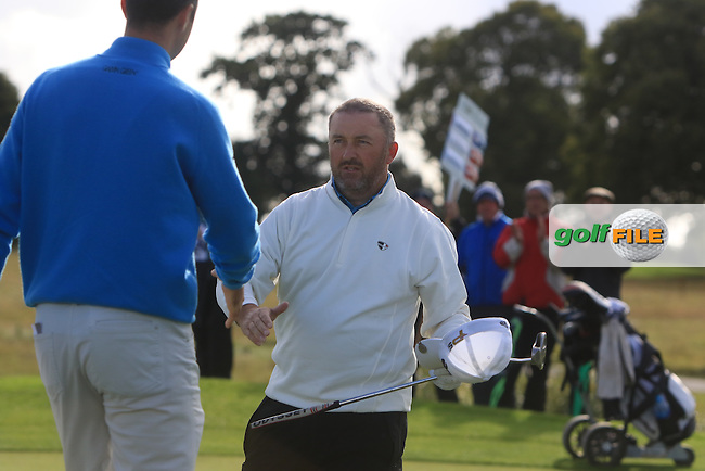 Damien McGrane (IRL) wins the 106th Irish PGA Championship at Moyvalley Hotel &amp; Golf Resort, Moyvalley, Co. Kildare.  25/09/2016.<br /> Picture: Golffile   Thos Caffrey<br /> <br /> <br /> All photo usage must carry mandatory copyright credit     (&copy; Golffile   Thos Caffrey)