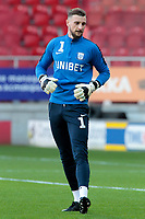 Preston North End's Declan Rudd during the pre-match warm-up <br /> <br /> Photographer David Shipman/CameraSport<br /> <br /> The EFL Sky Bet Championship - Rotherham United v Preston North End - Tuesday 1st January 2019 - New York Stadium - Rotherham<br /> <br /> World Copyright © 2019 CameraSport. All rights reserved. 43 Linden Ave. Countesthorpe. Leicester. England. LE8 5PG - Tel: +44 (0) 116 277 4147 - admin@camerasport.com - www.camerasport.com