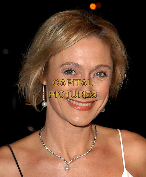 CAROLINE GOODALL.Chasing Liberty Los Angeles Premiere held at The Grauman's Chinese Theater .7 January 2004.**UK Sales Only**.headshot, portrait, necklace.www.capitalpictures.com.sales@capitalpictures.com.©Capital Pictures.
