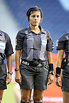 16 October 2014: Fourth official Mirian Leon (SLV). The Jamaica Women's National Team played the Martinique Women's National Team at Sporting Park in Kansas City, Kansas in a 2014 CONCACAF Women's Championship Group B game, which serves as a qualifying tournament for the 2015 FIFA Women's World Cup in Canada. Jamaica won the game 6-0.