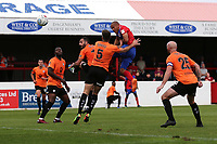 Elliott Romain of Dagenham and Redbridge goes close during Dagenham & Redbridge vs Chesterfield, Vanarama National League Football at the Chigwell Construction Stadium on 15th September 2018