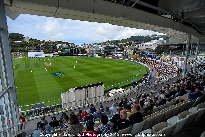 Day One of the first test between the New Zealand Black Caps and Sri Lanka at Hawkins Basin Reserve in Wellington, New Zealand on Thursday, 15 January 2018. Photo: Dave Lintott / lintottphoto.co.nz