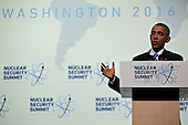 United States President Barack Obama speaks during a news conference at the Nuclear Security Summit in Washington, D.C., U.S., on Friday, April 1, 2016. After a spate of terrorist attacks from Europe to Africa, Obama is rallying international support during the summit for an effort to keep Islamic State and similar groups from obtaining nuclear material and other weapons of mass destruction. <br /> Credit: Andrew Harrer / Pool via CNP