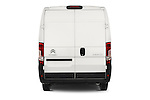 Straight rear view of a 2015 Citroen JUMPER L2H2 5 Door Cargo Van Rear View  stock images