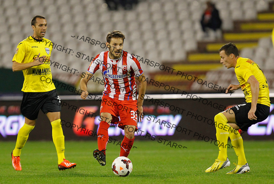 Fudbal Super liga season 2013-2014<br /> Crvena Zvezda v Novi Pazar<br /> Milos Ninkovic (C)<br /> Beograd, 19.10.2013.<br /> foto: Srdjan Stevanovic/Starsportphoto &copy;