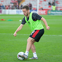 Lincoln City's Jack Payne during the pre-match warm-up<br /> <br /> Photographer Andrew Vaughan/CameraSport<br /> <br /> The EFL Sky Bet League One - Lincoln City v Sunderland - Saturday 5th October 2019 - Sincil Bank - Lincoln<br /> <br /> World Copyright © 2019 CameraSport. All rights reserved. 43 Linden Ave. Countesthorpe. Leicester. England. LE8 5PG - Tel: +44 (0) 116 277 4147 - admin@camerasport.com - www.camerasport.com