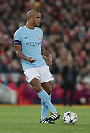 Vincent Kompany of Manchester City during the Champions League Quarter Final 1st Leg, match at Anfield Stadium, Liverpool. Picture date: 4th April 2018. Picture credit should read: Simon Bellis/Sportimage