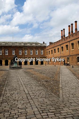 Eton college school, the quadrangle. Eton near nr Windsor Berkshire. England 2006