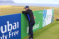 Andy Sullivan (ENG) waits on the par3 14th tee during Thursday's Round 1 of the 2018 Dubai Duty Free Irish Open, held at Ballyliffin Golf Club, Ireland. 5th July 2018.<br /> Picture: Eoin Clarke | Golffile<br /> <br /> <br /> All photos usage must carry mandatory copyright credit (&copy; Golffile | Eoin Clarke)