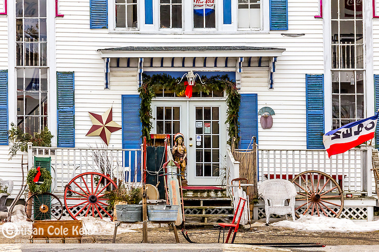 Antique shop in Mechanic Falls, Maine, USA