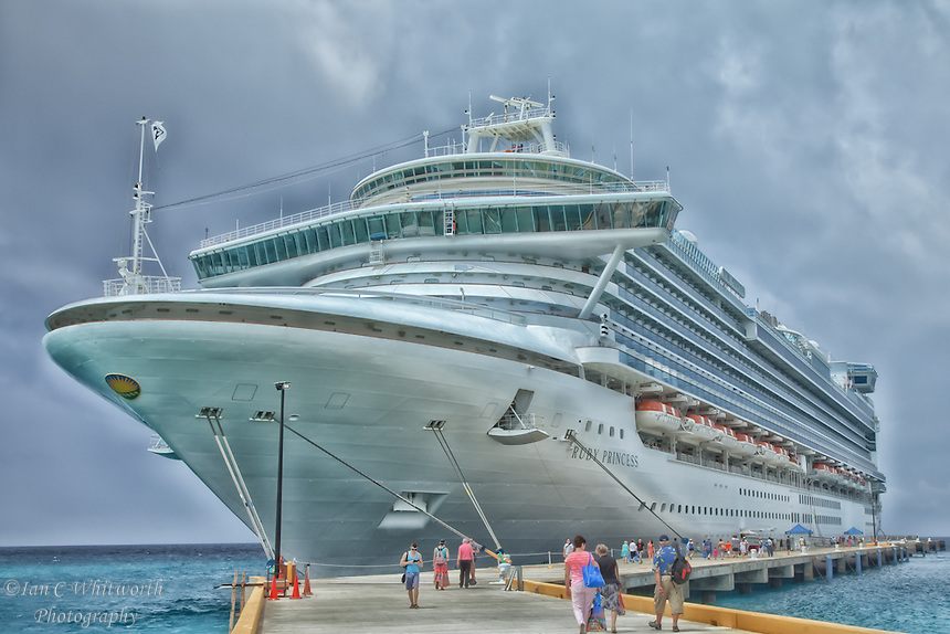 Ruby Princess cruise ship docked at Grand Turk in the Caribbean.