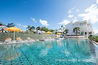 The Caribbean, Anguilla. The Malliouhana Hotel & Spa, pool.
