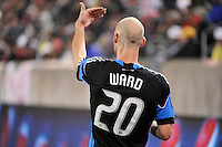 Tim Ward (20) of the San Jose Earthquakes. The San Jose Earthquakes defeated the New York Red Bulls 3-1, (3-2) on aggregate during the 2nd leg of the Major League Soccer (MLS) Eastern Conference Semifinals at Red Bull Arena in Harrison, NJ, on November 04, 2010.
