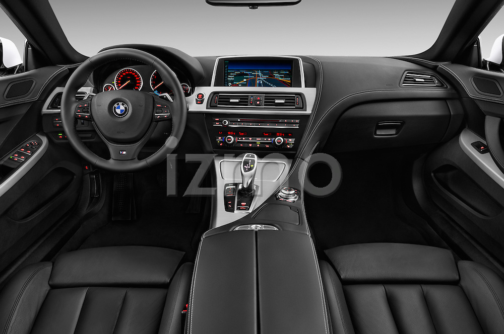 Straight dashboard view of a 2012 Bmw SERIES 6 Gran Coupe 640i 4 Door Sedan 2WD