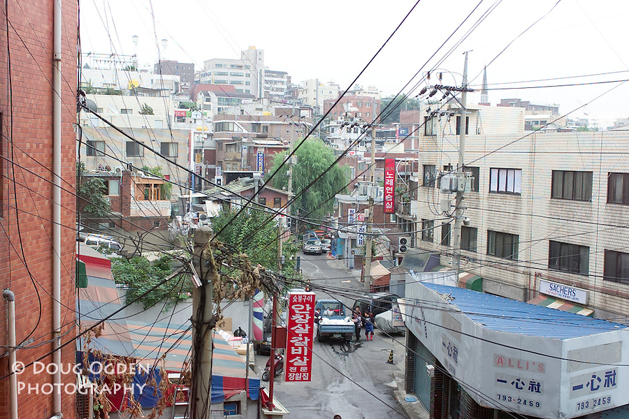 Wires and City Scape, Seoul, South Korea